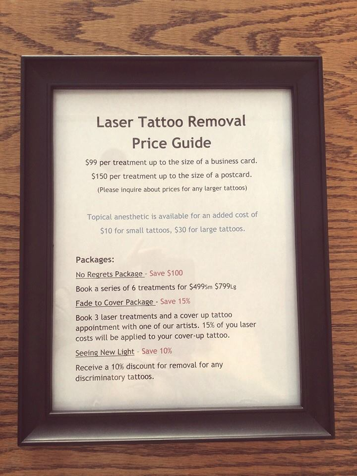 Laser price guide