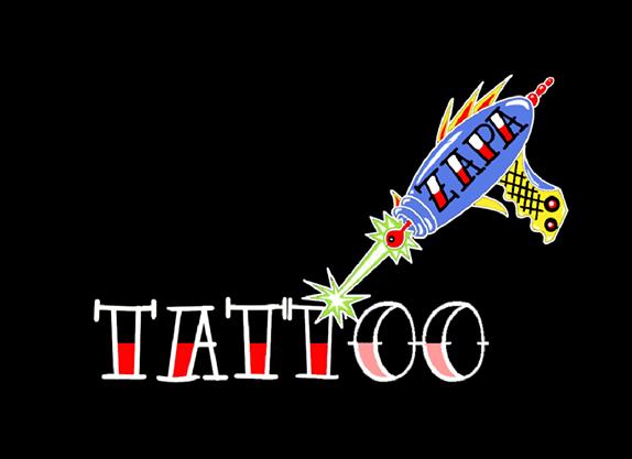 Zap A tattoo logo